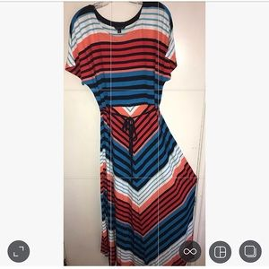 Tommy Hilfiger Size XL Striped Maxi Dress